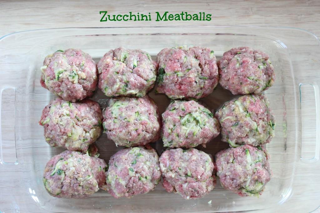 Meatballs with Zucchini ~ freezer friendly! | 5DollarDinners.com