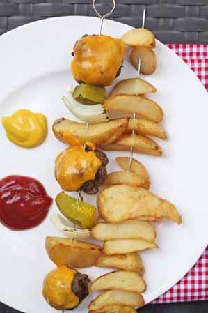 Cheeseburger Kebabs