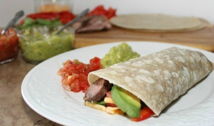 Aleas Southwest Steak and Avocado Wrap Recipe