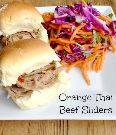 Orange Thai Beef Sliders