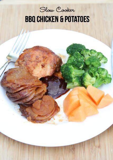 Slow Cooker BBQ Chicken & Potatoes