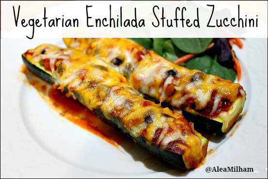 Vegetarian Enchilada Stuffed Zucchini Recipe