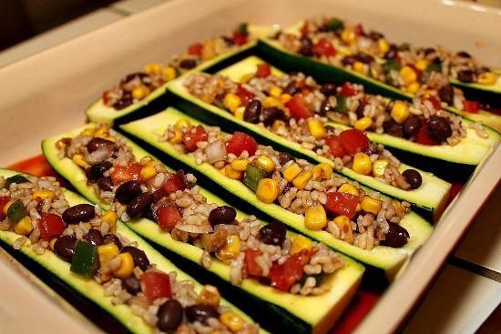 vegetarian enchilada stuffed zucchini recipe