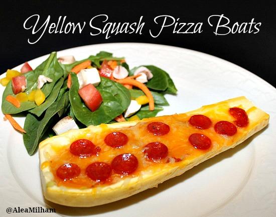 yellow squash pizza boat recipe