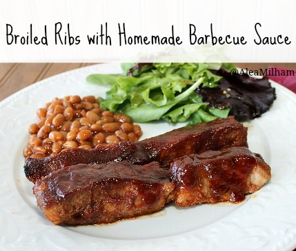 Broiled Ribs with Homemade Barbecue Sauce