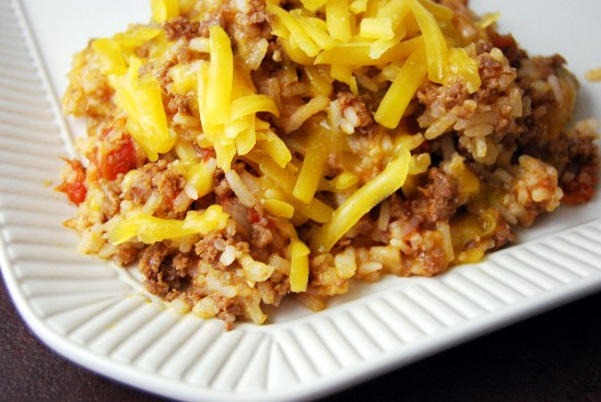 cheeseburger rice