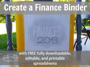 Finance Binder