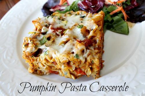 Pumpkin Pasta Casserole