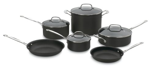 Cuisinart 66-10 Chefs Classic Nonstick Hard-Anodized 10-Piece Cookware Set