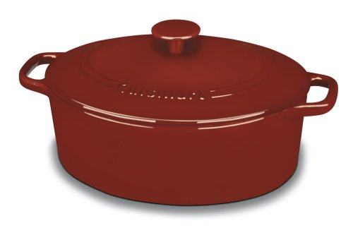 Cuisinart Chefs Classic Enameled Cast Iron 5 Quart Oval Covered Casserole