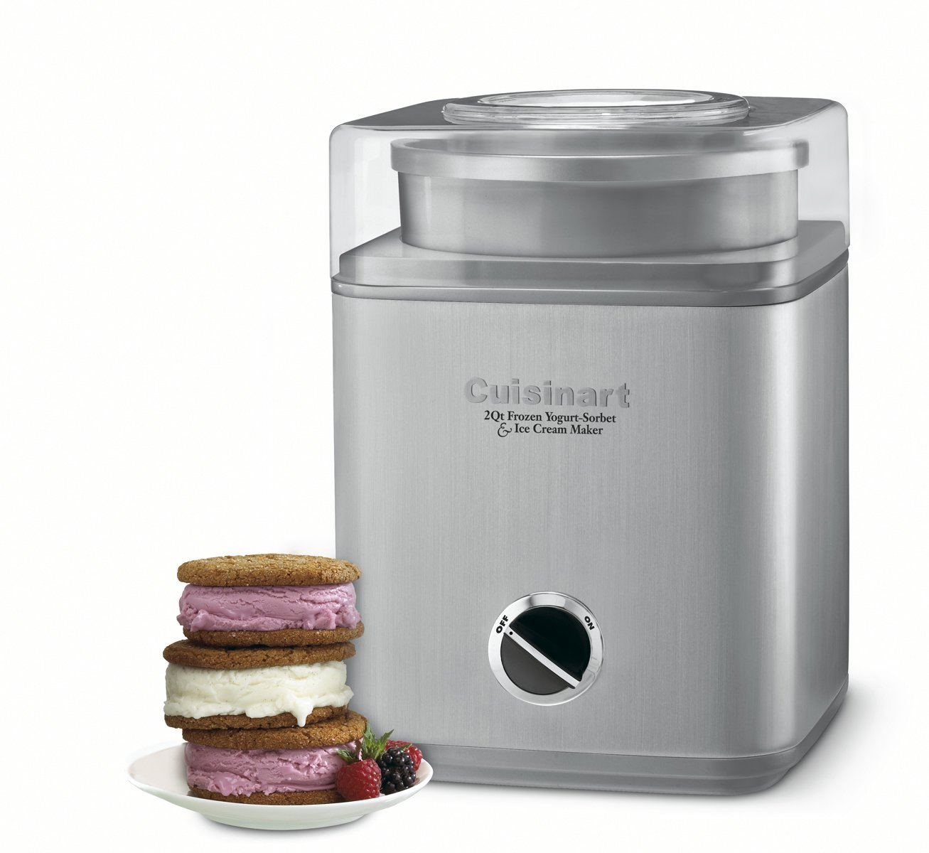 Cuisinart Pure Indulgence 2-Quart Automatic Frozen Yogurt, Sorbet, and Ice Cream Maker