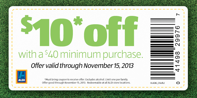 Coupon for 10 off any purchase of 40 limit one coupon per family
