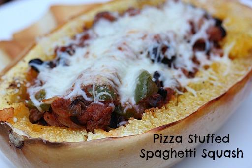Pizza Stuffed Spaghetti Squash