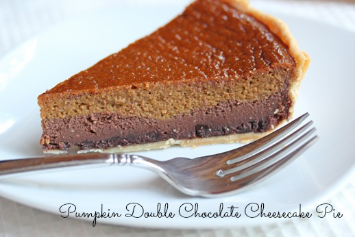 Pumpkin Chocolate Cheesecake Pie