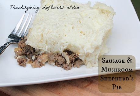 Sausage Mushroom Shepherds Pie