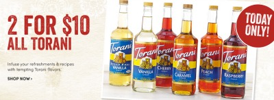 World Market Torani Syrups Deal