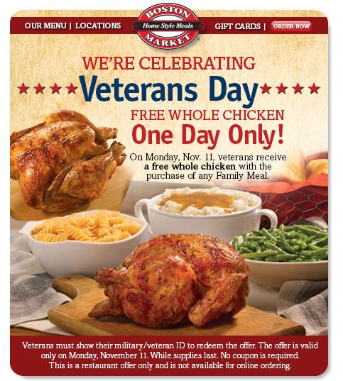 boston market veterans day
