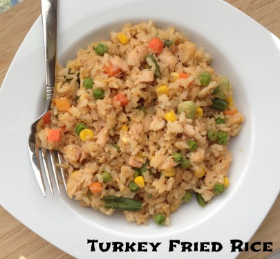 fried rice with turkey leftovers