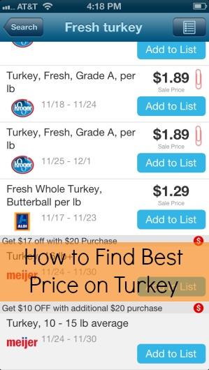 how to find best price on turkey