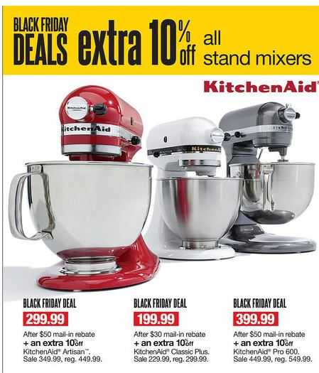 kohls black friday kitchen aid mixers