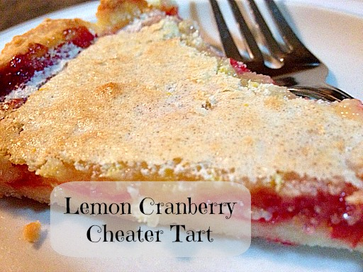 lemon cranberry tart