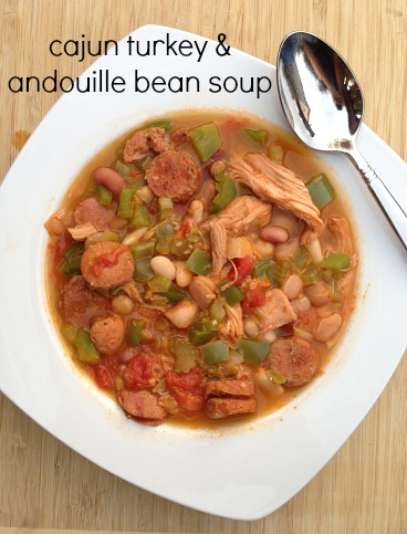 Cajun Turkey Andouille Bean Soup