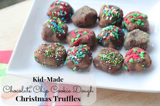 Kid Made Cookie Dough Christmas Truffles