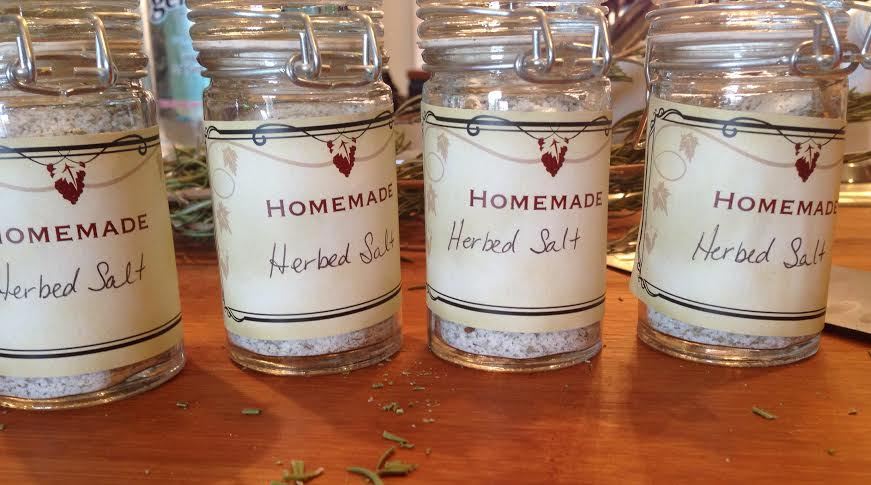 homemade herbed salt