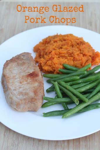 Orange Glazed Pork Chops Dinner