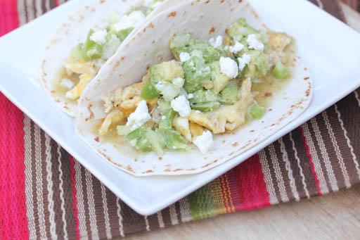 Salsa Verde Breakfast Tacos