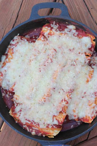 cast iron chicken enchiladas