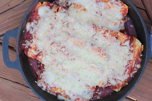 Cast Iron Chicken Enchiladas Recipe