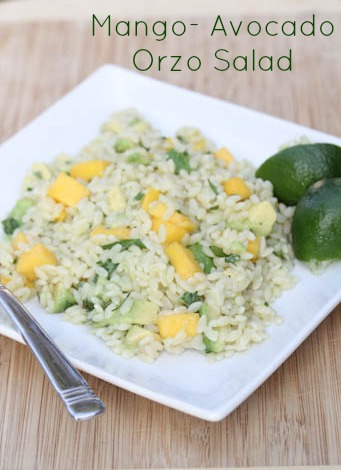Mango-Avocado Orzo Salad