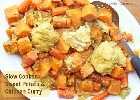 Slow Cooker Sweet Potato and Chicken Curry | 5DollarDinners.com