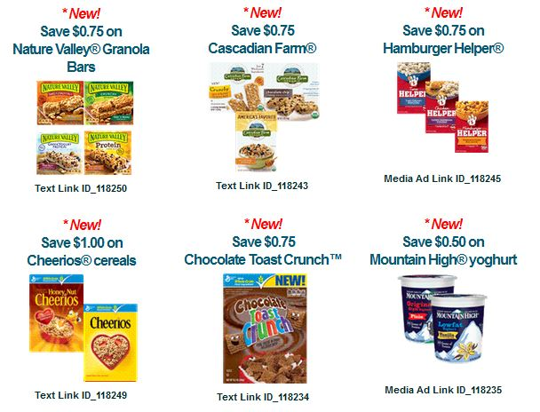 savingstar new general mills coupons