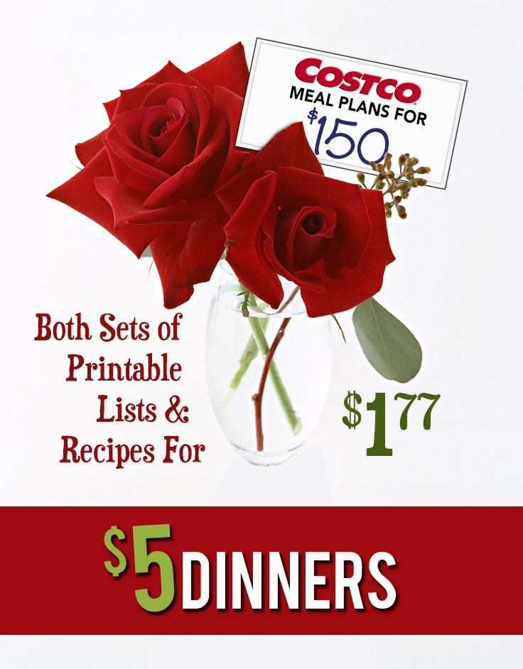 Costco Meal Plan Printables - Just $1.77 Valentine's Sale!