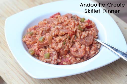 Andouille Creole Skillet Dinner Recipe