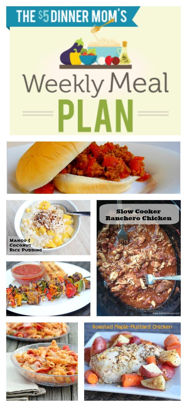 Free Weekly Meal Plan with Printable List | 5DollarDinners.com