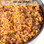 Chorizo Rice Skillet Dinner from 5DollarDinners.com