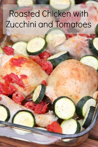 Roast Chicken with Zucchini