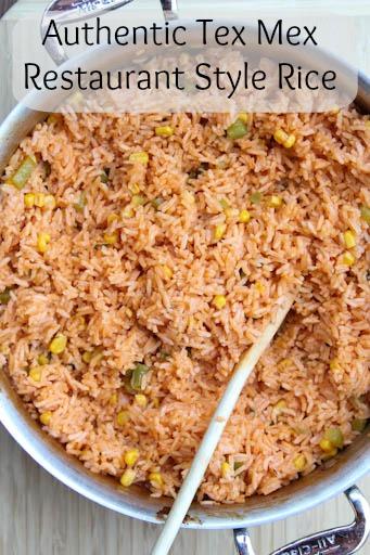 Tex Mex Restaurant Style Rice Recipe