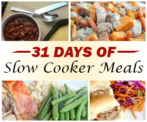 31 Days of Slow Cooker Meals | 5DollarDinners.com