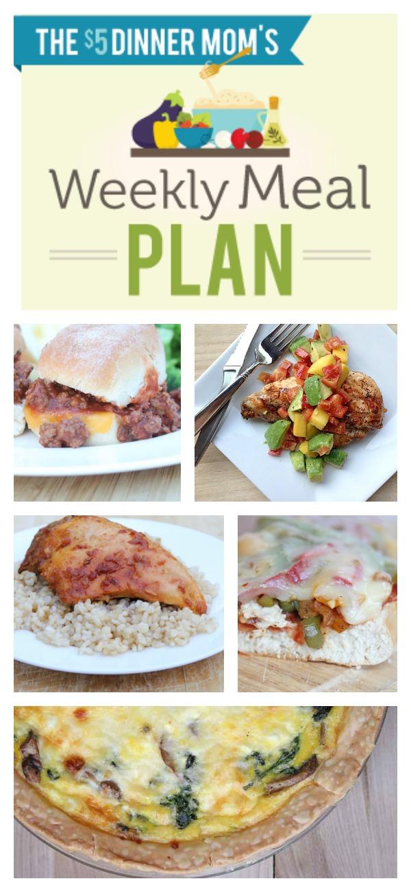 Free Weekly Meal Plan for week of July 27th | 5DollarDinners.com