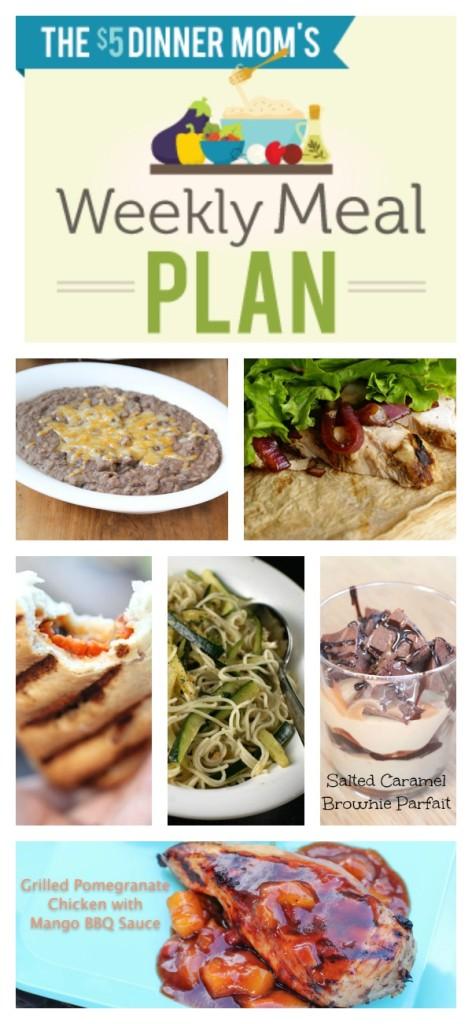 Free Weekly Meal Plan with Printable List week of July 20
