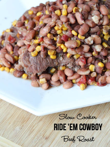 Slow Cooker Ride 'Em Cowboy Beef | 5DollarDinners.com