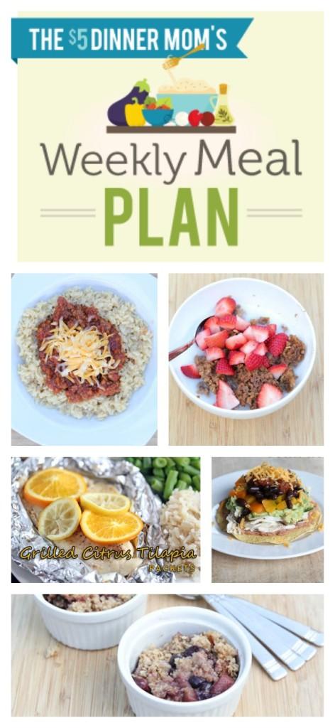 Weekly Meal Plan with Printable List Week of July 13