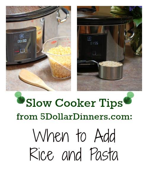 When to Add Rice and Pasta to the Slow Cooker