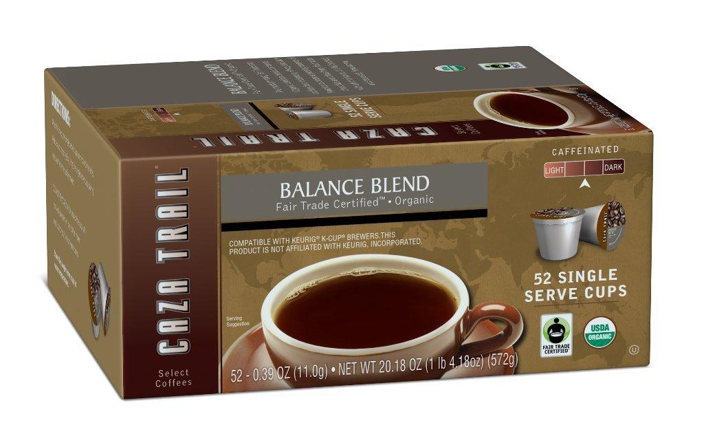 caza trail fair trade organic kcup coffee