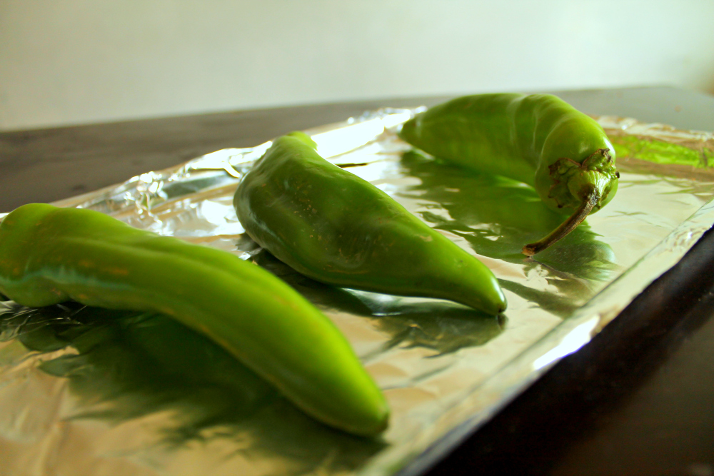 How to Roast Hatch Chiles Step 1