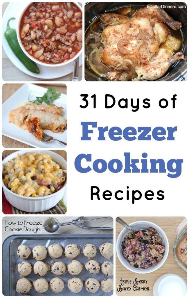 31 Days of Freezer Cooking Recipes | 5DollarDinners.com